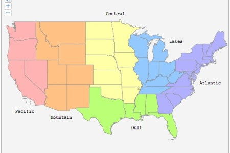 regional selection map (united states) | interactive html5