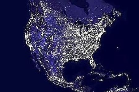 at night from space united states pictures to pin on