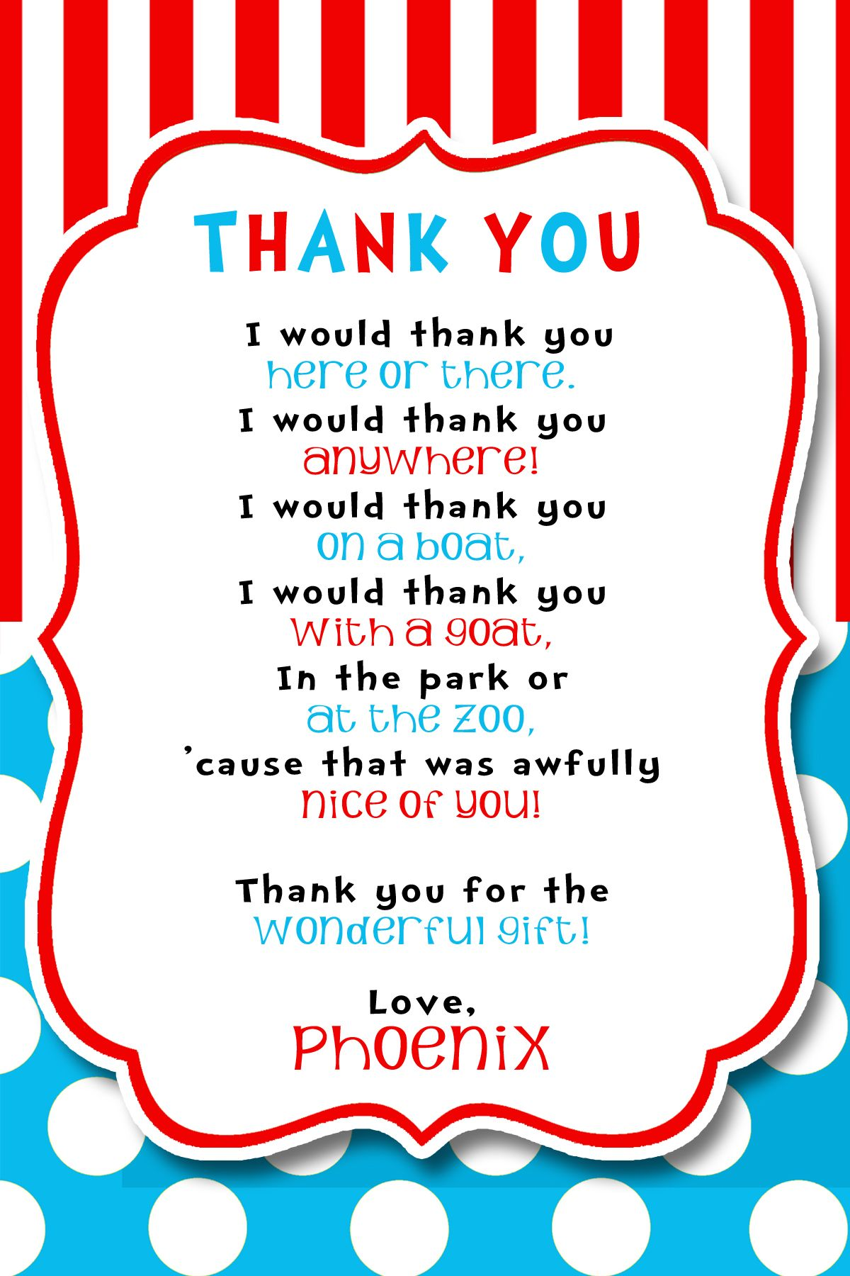 thank you note for baby gifts thank you is a part of thank you doctor ...