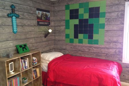 minecraft bedroom my son loves it! | minecraft | pinterest