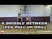 11 Drills To Help You Master The Pull-up Jump Shot | 4 DRIBBLE BETWEEN LEGS PULL UP SHOOTING DRILL - COACH GODWIN EP: 66