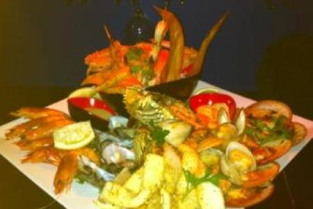 seafood platter yellowfin