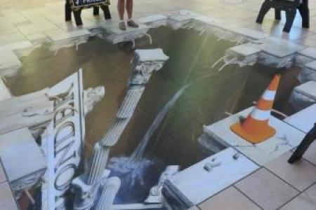 trippy 3 d art! picture of destiny usa, syracuse