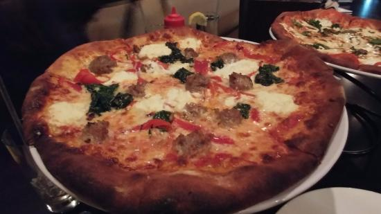 meatball ricotta pizza   Picture of Tremonte Pizzeria  Lowell     Tremonte Pizzeria  meatball ricotta pizza