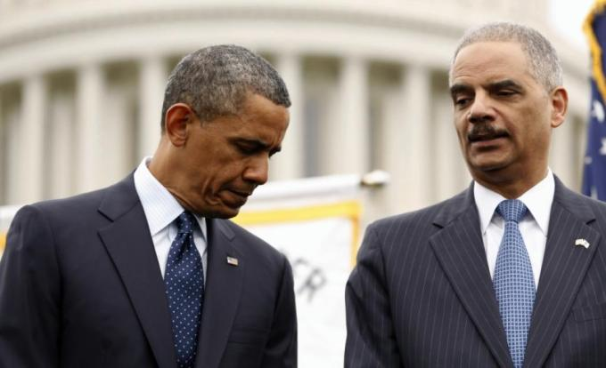 U.S. President Barack Obama and Attorney General Eric Holder have been vigorous in combating leaks. KEVIN LAMARQUE/REUTERS
