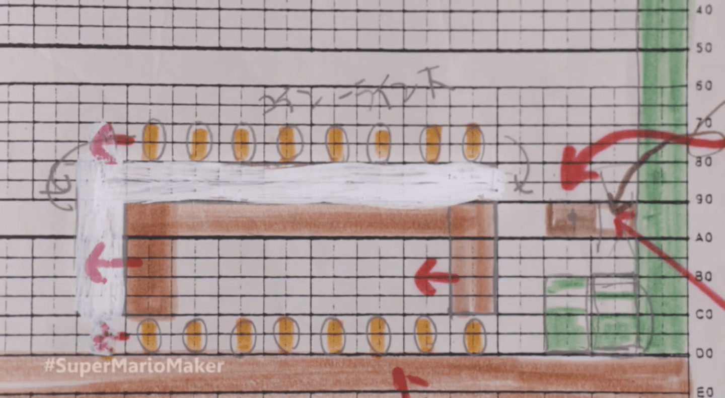 nintendo used to design super mario levels on graph paper    offworld