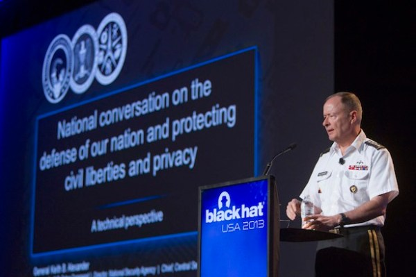Former NSA chief Keith Alexander at Black Hat 2013 [Reuters]