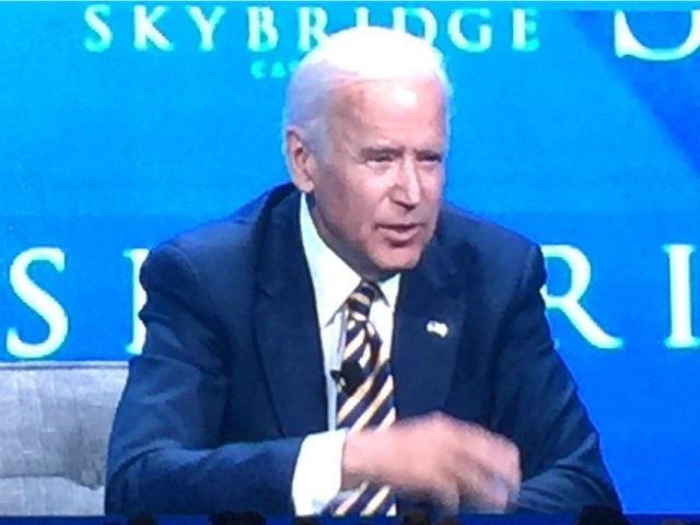 Former Vice President Joe Biden at the Salt Conference in Las Vegas on May 18, 2017