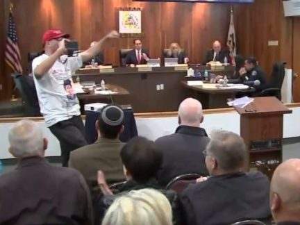 Los Alamitos council meeting (KABC-7 via Associated Press)