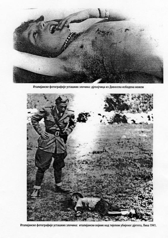 Фотографију су снимили италијански војници када су дошли у Крушковаче у Дивосело послије покоља 05. и 06.аугуста 1941. године.