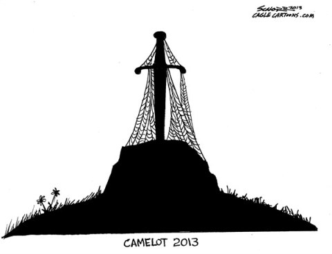 Bill Schorr - Cagle Cartoons - camelot 2013 - English - jfk, 50th anniversary, assassination