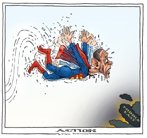 Joep Bertrams - The Netherlands - action - English - obama, syria, middle east, superman,
