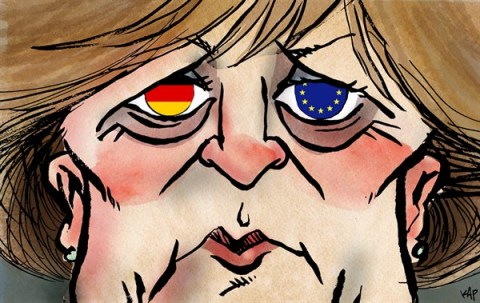 Kap - La Vanguardia, Spain - Merkel is watching you - English - Merkel, cdu, germany, elections, europe, eu, ue
