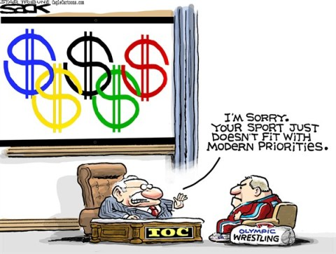 Steve Sack - The Minneapolis Star Tribune - Olympic Wrestling COLOR - English - Olympics, wrestling, IOC