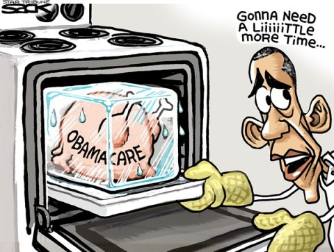 Steve Sack - The Minneapolis Star Tribune - TurkeyCare COLOR  - English - Obamacare