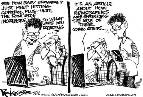 Milt Priggee - www.miltpriggee.com - Newspapers - English - newspapers, comic strips, journalism, internet, digital, WEB sites,