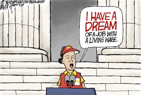 Jeff Darcy - The Cleveland Plain Dealer - MLK-Living wage - English - March on Washington, MLK, Living wage