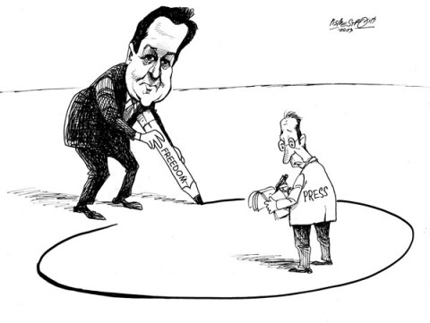 Petar Pismestrovic - Kleine Zeitung, Austria - Demarkation - English - David Cameron, Presse, Politic, Great Britain, the Guardian, London,