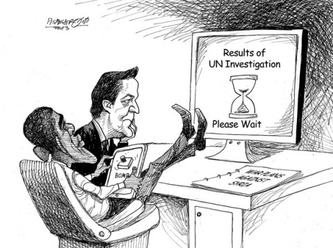 Petar Pismestrovic - Kleine Zeitung, Austria - Waiting Period - English - Barack Obama, David Cameron, Syria, Assad, War, Civil War, USA, Great Britain