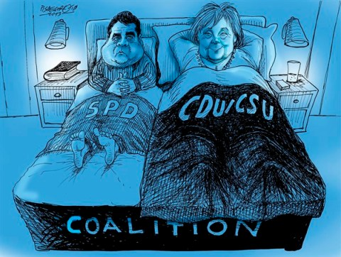 Petar Pismestrovic - Kleine Zeitung, Austria - scenes of a marriage - English - Angela Merkel, Sigmar Gabriel, Germany, Coalition, EU