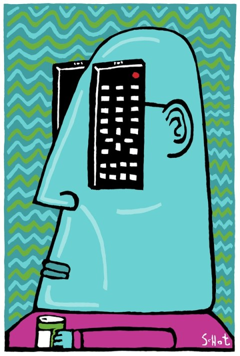 Schot - De Volkskrant, Netherlands - television - English - tv, remote control, mind, world view, couch potato, television, tv channel, media, entertainment