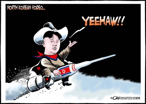 Olle Johansson - Sweden - North korean Rodeo - English - North Korea, Missile, Threat, Kim Jong-un, leader, trigger-happy, Rodeo, Nukes, Unsafe, world