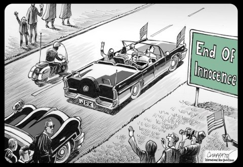 Patrick Chappatte - The International Herald Tribune - That day in Dallas… - English - USA, Dallas, Texas, Kennedy, Death, History, JFK