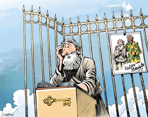 Patrick Chappatte - Le Temps, Switzerland - RIP NELSON MANDELA - English - South Africa, Mandela, Death, Saint-Pierre Paradis, Photography