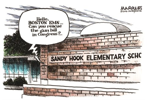 Jimmy Margulies - The Record of Hackensack, NJ - Gun bill - English - Gun bill, gun control, gun lobby, NRA, Newtown, Sandy Hook Elementary School, gun violence