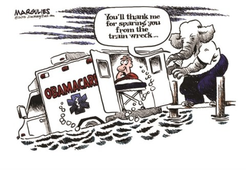 Jimmy Margulies - The Record of Hackensack, NJ - Republicans and Obamacare color - English - Obamacare, Republican opposition to Obamacare, Republicans, health care