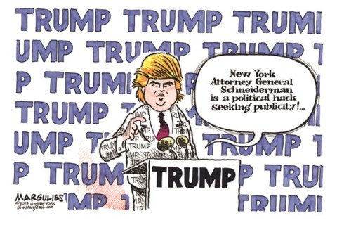 Jimmy Margulies - The Record of Hackensack, NJ - Donald Trump color - English - Donald Trump, Trump, Lawsuit against Trump University
