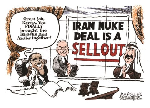 Jimmy Margulies - The Record of Hackensack, NJ - Iran Nuke Deal - English - Iran, Iran Nuke Deal, Iranian nuclear weapons, Israel, Saudi Arabia, Secretary of State Kerry, Mideast