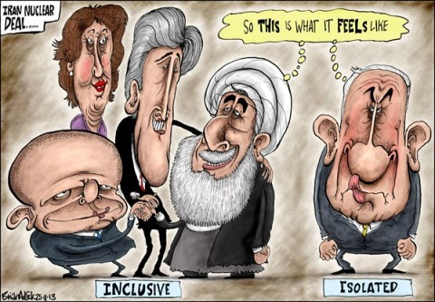 Brian Adcock - The Scotland - IRAN NUCLEAR DEAL - English - iran nuclear deal ashton, rouhani, john Kerry, William hague, netanyahu, inclusive, isolated, Israel,