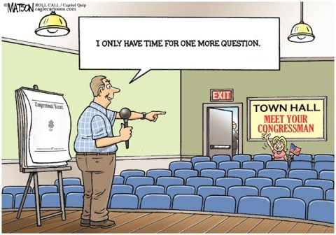 RJ Matson - Roll Call - Quiet Town Hall Summer-COLOR - English - Quiet Town Hall Summer, Congress, Recess, Town Hall Meetings