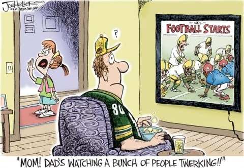 Joe Heller - Green Bay Press-Gazette - Football Starts - English - football starts,NFL,twerking,cyrus,miley cyrus