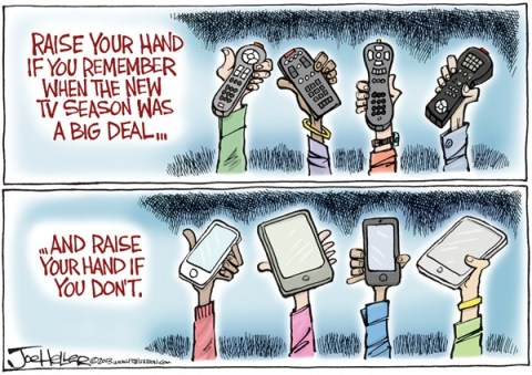 Joe Heller - Green Bay Press-Gazette - TV Season - English - TV season, media, iphone, tablets, remotes, network shows, television