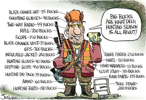 Joe Heller - Green Bay Press-Gazette - Deer Hunting - English - deer hunting, bucks, costs, wisconsin, white tail