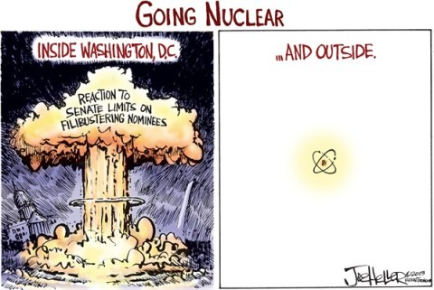 Joe Heller - Green Bay Press-Gazette - Nuclear Option - English - Nuclear Option, Reid, filibuster