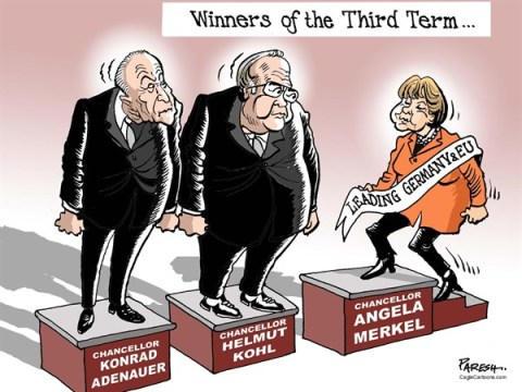 138087 600 German Chancellors in 3rd term cartoons