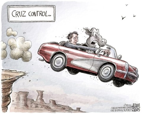 Adam Zyglis - The Buffalo News - Cruz Control COLOR - English - senator ted cruz, cruz, control, congress, house, senate, gop, republican, party, budget, obamacare, vote, funding, defunding, repeal, debt ceiling