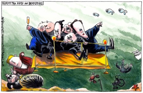 Iain Green - The Scotsman, Scotland - UK BENEFITS REFORMS - English - UK, scotland, benefits reforms, bedroom tax, bedknobs and broomsticks, alex salmond, johann lamont, david cameron, george osborne, iain duncan smith