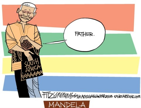 David Fitzsimmons - The Arizona Star - Mandela COLOR - English - Mandela