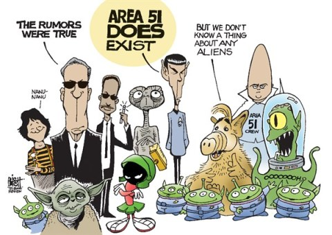 Randy Bish - Pittsburgh Tribune-Review - AREA 51, COLOR - English - AREA 51, ALIENS, GOVERNMENT