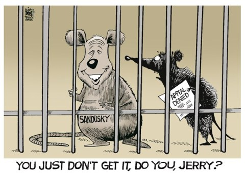 Randy Bish - Pittsburgh Tribune-Review - LOCAL- JERRY SANDUSKY, COLOR - English - SANDUSKY, PENN STATE, JAIL, CHILDREN