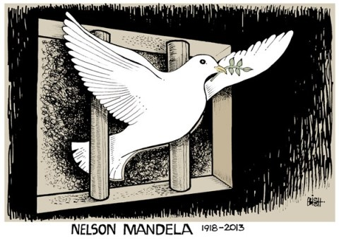 Randy Bish - Pittsburgh Tribune-Review - NELSON MANDELA, COLOR - English - MANDELA,SOUTH AFRICA