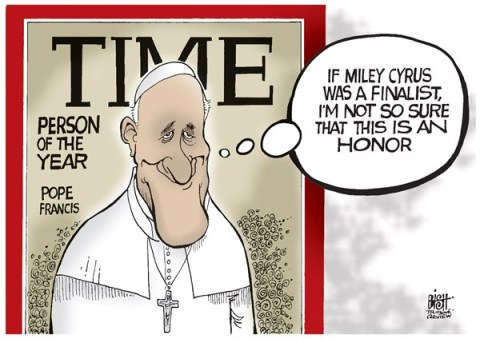 Randy Bish - Pittsburgh Tribune-Review - POPE FRANCIS PERSON OF THE YEAR, COLOR - English - POPE, POPE FRANCIS, CATHOLIC, CHURCH, TIME MAGAZINE, TIME, PERSON OF THE YEAR