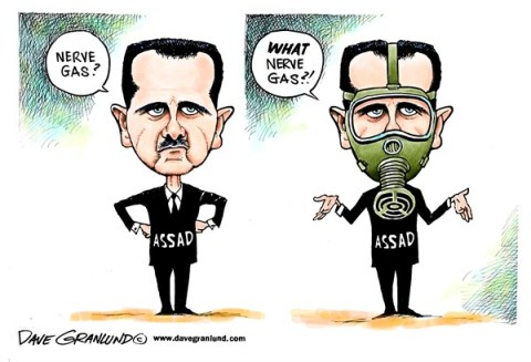 136590 600 Syria and nerve gas cartoons