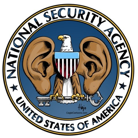 Hajo de Reijger - The Netherlands - NSA logo gr - English - NSA, ears, Obama, spying, monitoring, listening, cell phone records, espionage, intelligence