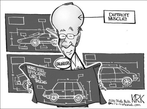 Detroit Muscle © Kirk Walters,Toledo Blade,detroit,muscle,fuel,efficient