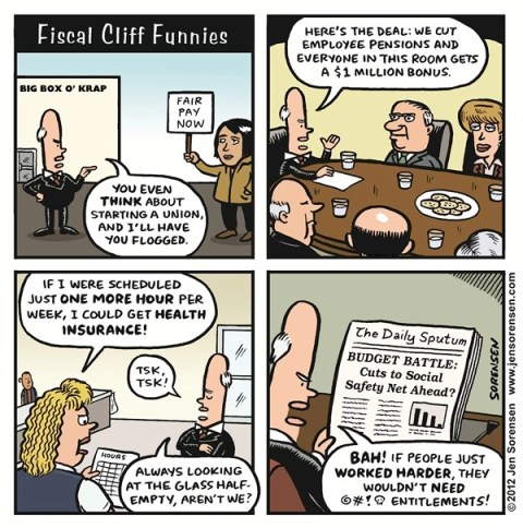 Fiscal Cliff © Sorensen,Slowpoke,fiscal cliff,tax